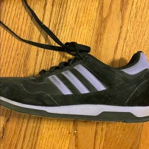 Adidas Black and Purple sneakers